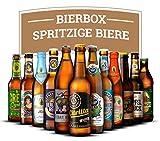 Craft Beer Box - Spritzige Biere inkl. 12 Flaschen, 11 x 0.33 Liter und 1 x 0.5 Liter (Pale Ale, Pils, Lager/Helles, Weissbier)