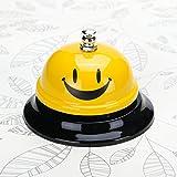 Happy-Face-Cloche-dappel-85-cm-Calibre-pour-le-Porter-de-cuisine-Restaurant-Bar-Service-Bell-avec-base-de-Noir-Jaune