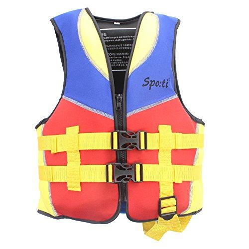 Genswiss Giacca Pesce Bambino Swim Vest bambini life Rosso di formato medio per quattro-sei anni (Sport Life Vest)