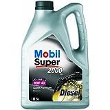 Mobil 1 150639 Premium Motorenöl Super 2000 X1 Diesel 10W-40, 5 Liter
