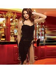 les bretelles de soie noire halter robe