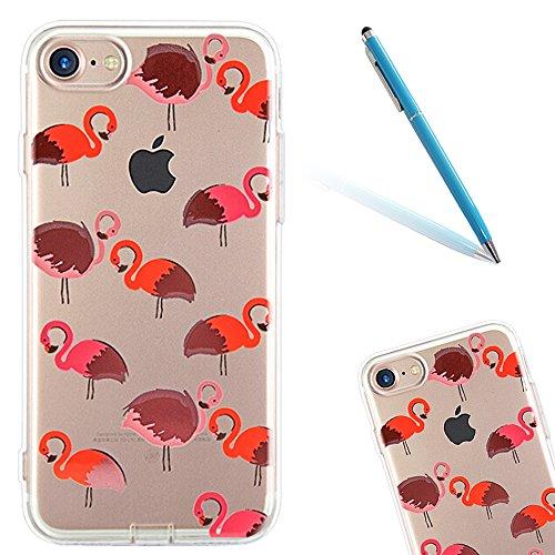 """iPhone 6sPlus Hülle, Retro Flower Series CLTPY iPhone 6Plus Dünne Matt Malereifarbig Weich Silikon Handytasche, Kreativ Leichtbau Protektiv Schale Fall für 5.5"""" Apple iPhone 6Plus/6sPlus (Nicht iPhone Flamingo"""