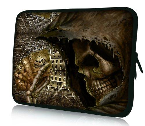Luxburg® Design Laptoptasche Notebooktasche Sleeve für 17,3 Zoll, Motiv: Strümpfe Spiel mit Tod