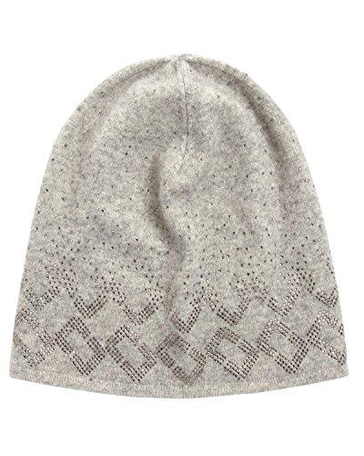 dvf-diane-von-furstenberg-grey-chainlink-embellished-knit-beanie-one-size
