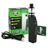 e-Zigaretten Set SC Aster 75 Watt + Aspire Atlantis EVO 4 ml Tank + 3000 mAh Akku (Schwarz)