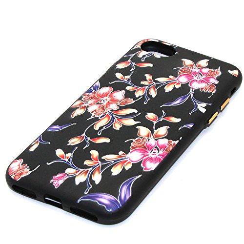Qiaogle Telefon Case - Weiche TPU Case Silikon Schutzhülle Cover für Apple iPhone 5 / 5G / 5S / 5SE (4.0 Zoll) - YX48 / Roter Pfirsich YX49 / Bauhinia flower
