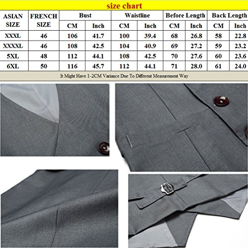 Zhhlaixing la moda morbido Mens Formal Soft Double Breasted Suit Vest Tops Blazer Sleeveless Gray