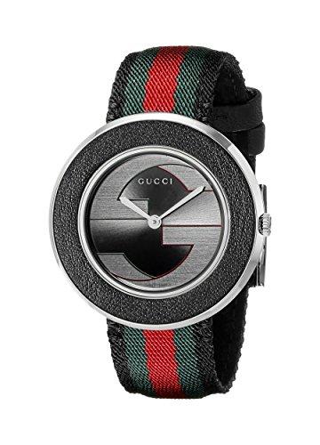 Gucci YA129444 - Reloj de cuarzo para mujer, con correa de nailon, color negro
