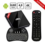 EstgoSZ TV Box Android 7.1 [3GB/64GB/4K] Smart TV Box con Amlogic S912 8-Core 64 Bits CPU con H.265/Dual Band WiFi 2.4GHz/5.0GHz/LAN 1000M/BT 4.1con Mini Tastiera Retroilluminata Wireless