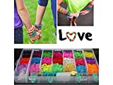 #8: KABEER ART Rainbow Color DIY Loom Band Kit with 4200 Colourful Rubber Bands For Making Bracelets , Key chains , Necklaces & Many Other Things