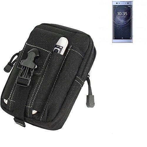 K-S-Trade Gürtel Tasche für Sony Xperia XA2 Ultra Dual-SIM Gürteltasche Schutzhülle Handy Hülle Smartphone Outdoor Handyhülle schwarz Zusatzfächer