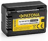 Bundlestar Qualitätsakku für Panasonic VW VBT190 E K mit Infochip - 100% kompatibel