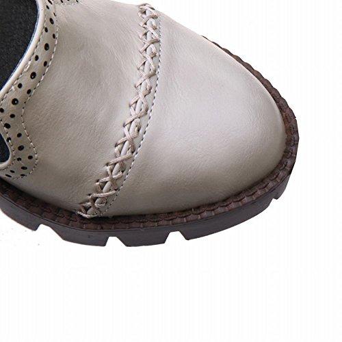 Chaussures Femme Misssasa Avec Boucle Grise À Faible Talon