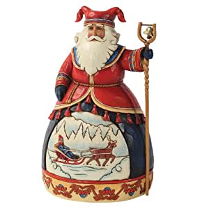 Heartwood Creek 4025842 Babbo Natale Lapponia Resina, Design di Jim Shore, 25 cm
