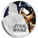 Star Wars The Force Awakens - Capitán Phasma $2 1oz Moneda Plata - Niue 2016