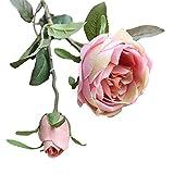 Andouy Fiori Finti Artificiali Rose Reali Bouquet da Sposa Floreale Home Decor