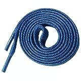 McLaces 2 Paar edele gewachste flache Baumwollsenkel, Schürsenkel 100% Cotton (90 cm, jeansblau)