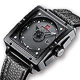 Herren Uhren Manner Wasserdicht Sport Schwarz Leder Design Armbanduhr Mann Business Mode Einfach Lässige Analog Quarzwerk Uhr