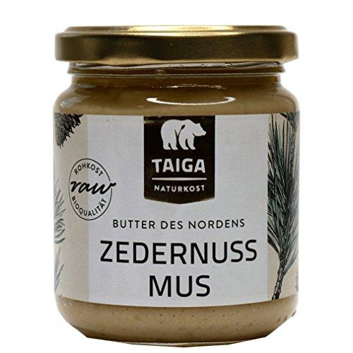 Taiga Naturkost - Sibirisches Zedernuss-Mus - Bio - Rohkost-Qualität - 190 g