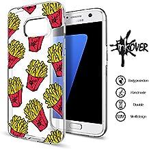 Funda Samsung Galaxy S4 - INKOVER - Funda Carcasa Case Bumper Protección Protectora Soft Case Transparente Caso Slim Fit Tpu Gel INKOVER Trasparent Design Patatas Chips para Samsung Galaxy S4