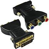 3 RCA chapado en oro HDMI hembra a DVI-I DVI 24 + 5 Video Masculino adaptador convertidor 2 Paquete