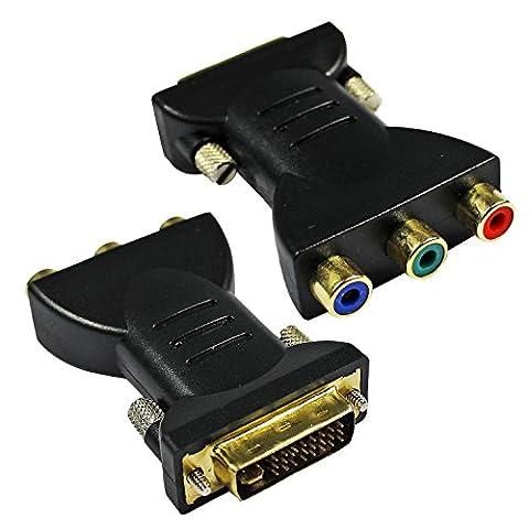 ESUMIC® 3 RCA Gold Plated Hdmi Female To Dvi-I Dvi 24+5 Male Video Adaptor Converter 2 Pack …