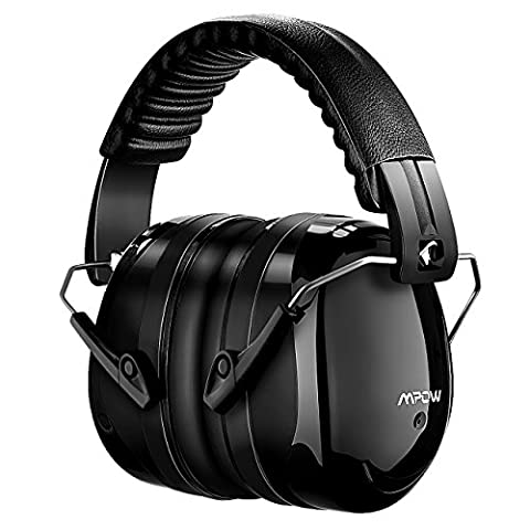 Casque antibruit Ear Protection Casque à Réduction du Bruit sans Fil Mpow Manchons d'oreille de sécurité Shooters Protection auditive, Head Band Coupes d'oreille avec mousse souple【ANSI S3.19 & CE EN521 Certificat】