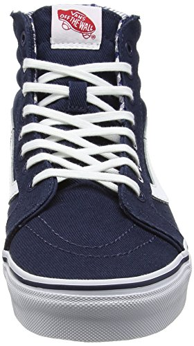 Vans Unisex-Erwachsene Sk8-Hi Reissue Sneaker Blau (twill & Gingham/dress Blues/true White)