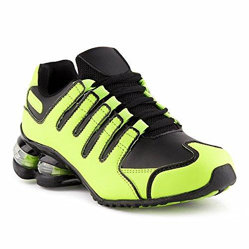 Fusskleidung Herren Damen Dämpfung Sportschuhe Sneaker Laufschuhe Grün/Blau-W EU 38