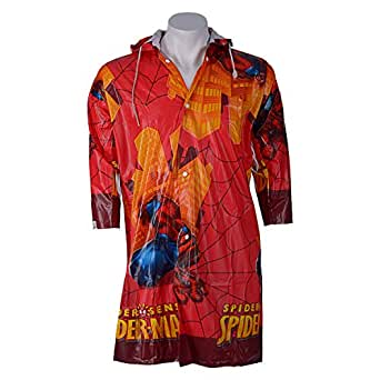 Spiderman Kids Red color Rain coat