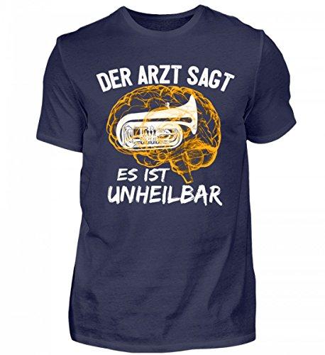 Hochwertiges Herren Shirt - Tuba Shirt · Musiker · Blasmusik · Musik · Musikinstrument · Musikverein · Hobby · lustig · Spruch · Pulli · Jacke · Hoodie · T-Shirt · Geschenk