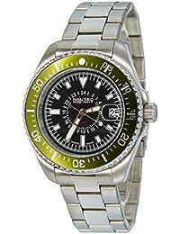 No limit Nautec Herren-reloj analógico de cuarzo de acero inoxidable deep Sea DS QZ-GMT/STSTGRBK