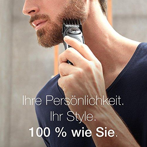 ,Braun Bartschneider BT3020, Kabelloser Haar und Bartschneider für Herren, schwarz