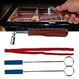 Klavier Tuning Sets,Professional Fixed Piano Tuning Tool Kit,Tuning Hammer Mute Schraubenschlüssel Hammer Griff-Set Werkzeuge und Fall,6 Stücke