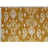 Tela de tapicería, tela de tapicería, tela de tapicería, tela, tela de la cortina, tela - Ramin, ocre - noble bicolor mezcla Oriental