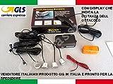Set mit 4 Sensoren für Autos, Wohnwagen, Silbergrau, lackiert, Handgriff, in Italien mit LED-Display