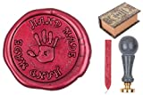 gravurART - Siegel-Set Hand-Made, Siegel-Stempel mit Marmorgriff incl.Gravur u. Siegelwachs in Schatzkiste