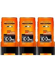 L'Oréal Men Expert Hydra Energetic Réveil Instantané Gel Douche pour Homme 300 ml - Lot de 3