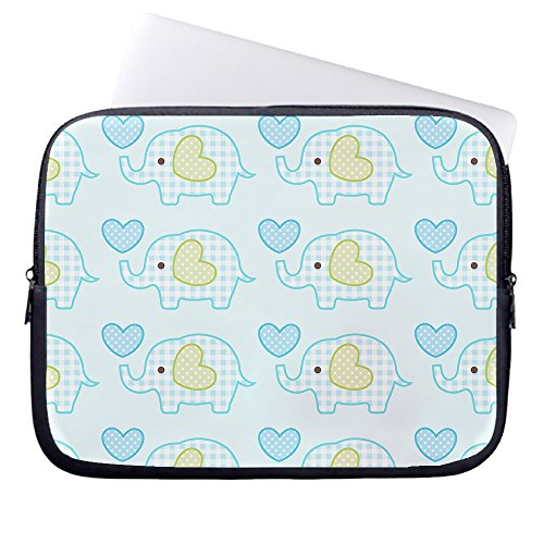 whiangfsoo-blue-cartoon-elephant-bow-heart-neoprene-sleeve-case-bag-pouch-carrying-holder-protector-