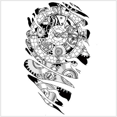 ruofengpuzi Männer Rose Persönlichkeit wasserdichte Tattoo Aufkleber Durable Färbung Wassertransfer Aufkleber 14,8X21 cm 1 Stücke