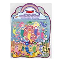 Melissa & Doug 19413 Mermaids Puffy Activity Book with 65 Reusable Stickers, Standalone