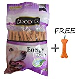 #5: Goofy Tails- Goodies Twisted Liver Energy Dog Treats (500gm) With Key Chain