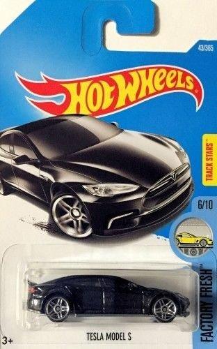 Hot Wheels 2017 Factory Fresh Tesla Model S 43/365, Black Long Card