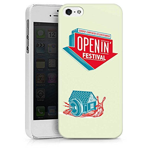 Apple iPhone X Silikon Hülle Case Schutzhülle OpenIn Festival Hip Hop Musik Hard Case weiß