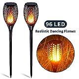 Solar Garten Flammen Fackeln 96 LED