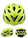 PIGE Ein Form-männliche und weibliche Fahrrad-Reithelme, freie Größe ( Farbe : Gelb )