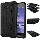 Dream2Cool Hybrid Military Grade Armor Kick Stand Back Cover Case For Asus Zenfone Go 5.0 Inches (Black)