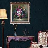 Tapeten Wandbild Hintergrundbild FototapeteDunkelblaues Dunkelgrünes Amerikanisches Südostasien-Wandpapiergewebeanzeigewandtapete-Tannenwohnzimmer Des Wandpapiers