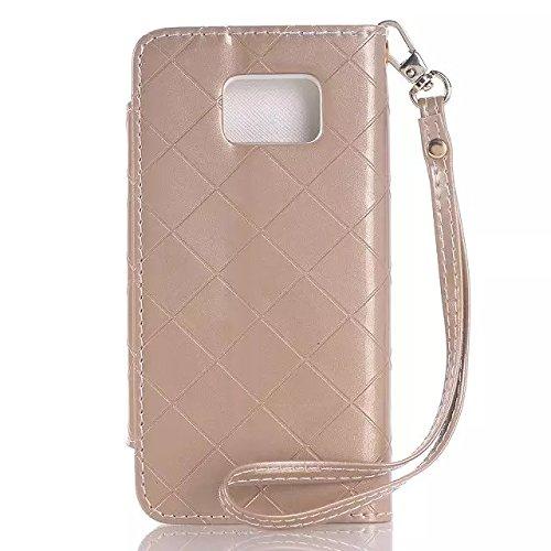 Samsung Galaxy S6 Case,rosa Magnetische Folio Flip Stand Fall + Weiße Hardcover Für Samsung S6 ( Color : 2 , Size : Samsung S6 ) 5
