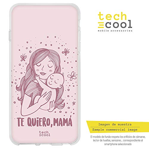 Q Hülle SchutzHülle Soft TPU Silikon Transparent für LG G7 ThinQ l Case, Cover, Handy, High Definition Druck [Dia de la Madre te Quiero Mama Version rosa] ()